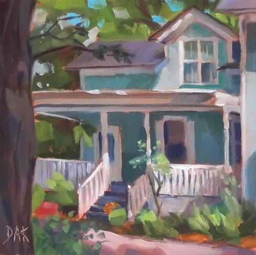 """White Porch"" original fine art by Deborah Ann Kirkeeide"