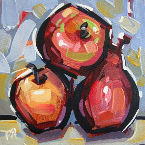 """""""Apples and pears 10"""" original fine art by Roger Akesson"""