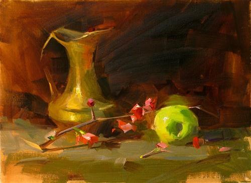 """Demo at Magnolia 2 --- Sold"" original fine art by Qiang Huang"