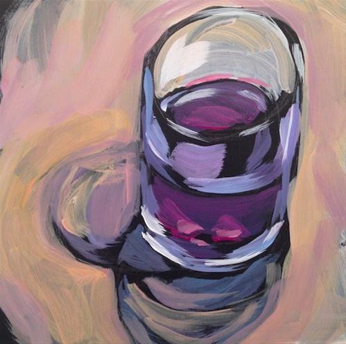 """""""Wine in the Water Glass"""" original fine art by Kat Corrigan"""