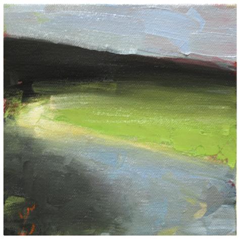 """""""Light at the bend"""" original fine art by Steven Goodman"""