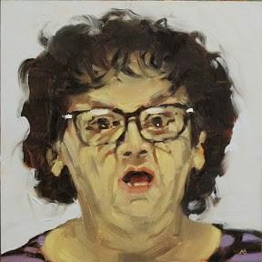 """""""FACE-IT # 39"""" original fine art by Helen Cooper"""