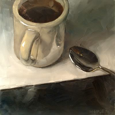"""Diner Mug with Spoon"" original fine art by Michael Naples"