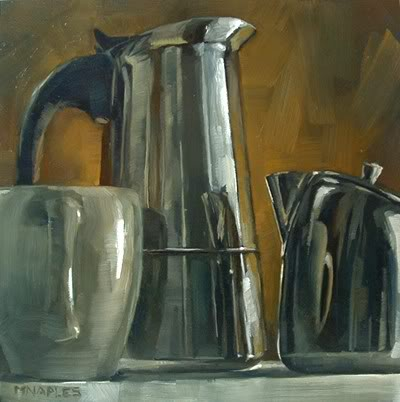 """""""Coffee Collection Reflections"""" original fine art by Michael Naples"""