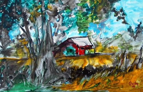 """""""Commerce Country Roads"""" original fine art by Donna Crosby"""