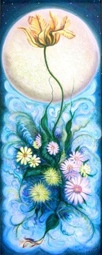 """Luna Bouquet"" original fine art by Karen Roncari"