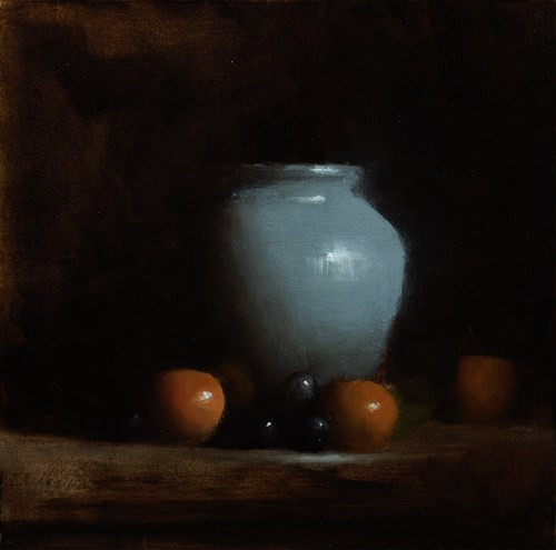 """""""Vase with Clementines"""" original fine art by Neil Carroll"""