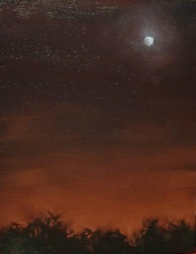 """Red Sky"" original fine art by Michael Naples"