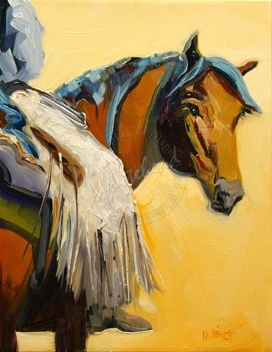 """WESTERN HORSE COWBOY ART DIANE WHITEHEAD DAILY PAINTING ARTOUTWEST"" original fine art by Diane Whitehead"