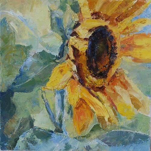 """Sun Shiny Day!—Day 4 — 30 in 30"" original fine art by Carol DeMumbrum"