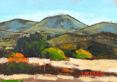 """Mountains in Temecula"" original fine art by Kevin Inman"