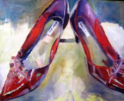 """Ruby Slippers"" original fine art by Scarlet Owl Studio"