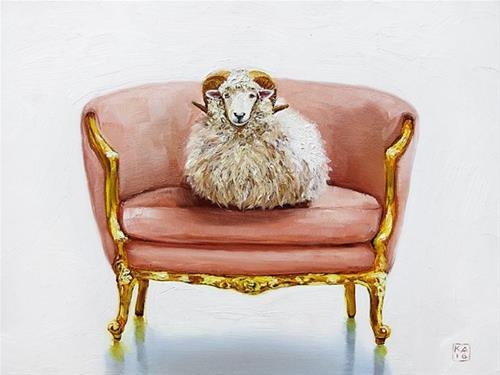 """ram glam"" original fine art by Kimberly Applegate"
