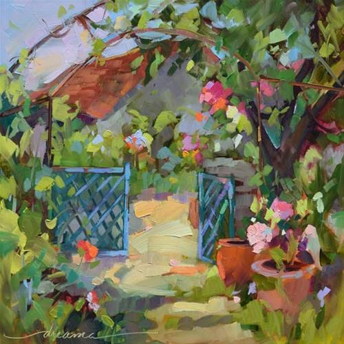 """""""Open Gate Policy"""" original fine art by Dreama Tolle Perry"""