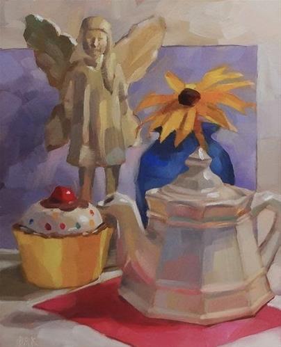 """Birthday Tea"" original fine art by Deborah Ann Kirkeeide"