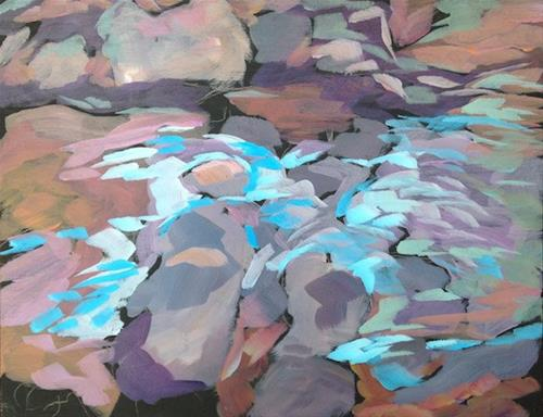 """Sauna Creek"" original fine art by Kat Corrigan"