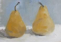 """""""Golden Pears"""" original fine art by Pamela Munger"""