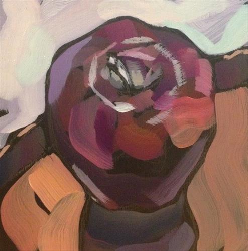 """One Stroke Apple"" original fine art by Kat Corrigan"