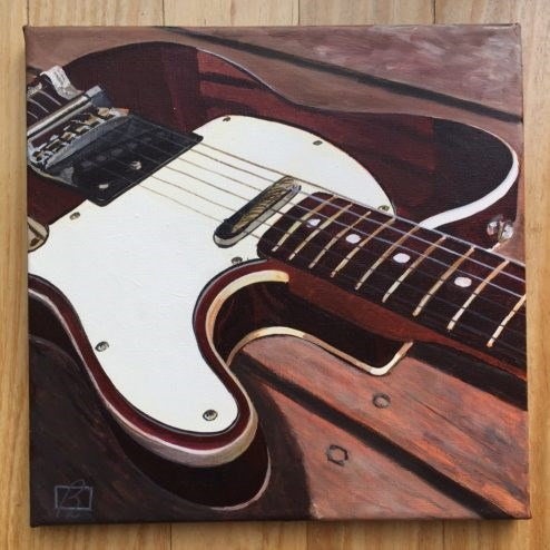 """Australian Fender I"" original fine art by Andre Beaulieu"