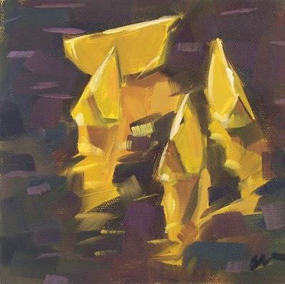 """Lemon Reflections --- SOLD"" original fine art by Carol Marine"