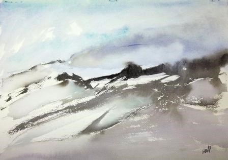 """High Wind"" original fine art by Nancy Hall"