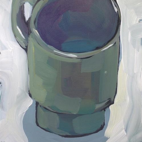 """Empty Green Mug"" original fine art by Kat Corrigan"