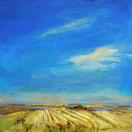 """""""Stubble Field"""" original fine art by Robin Peterson"""