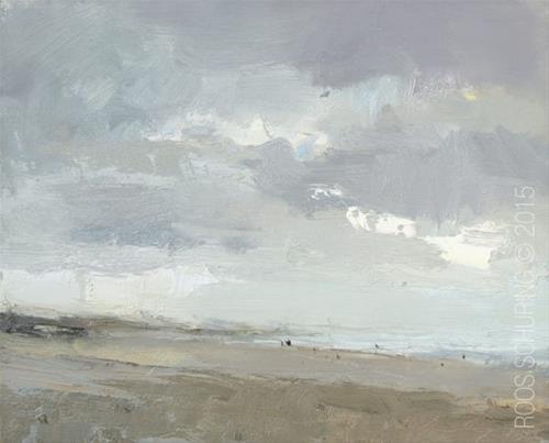 """""""Quiet Beach"""" original fine art by Roos Schuring"""