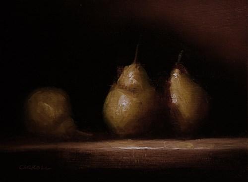 """""""Warm Pears"""" original fine art by Neil Carroll"""