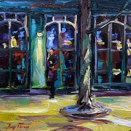 """""""Das Café"""" original fine art by Jurij Frey"""