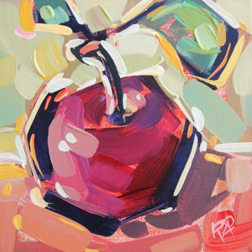 """""""Apple Abstraction 26"""" original fine art by Roger Akesson"""