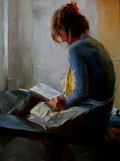 """""""A break in studio"""" original fine art by Fongwei Liu"""