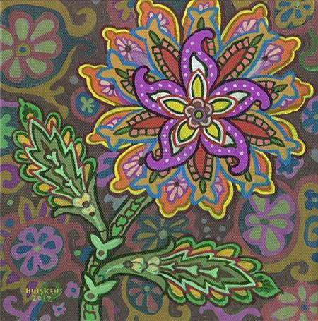 """Flower No. 4"" original fine art by Randal Huiskens"