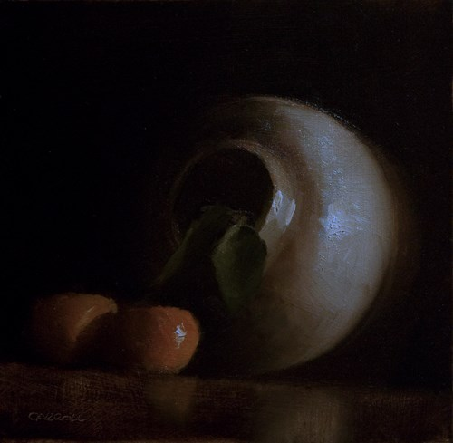 """Jar with Clementines"" original fine art by Neil Carroll"
