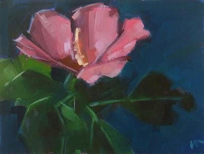 """Rose of Sharon 2 --- SOLD"" original fine art by Carol Marine"