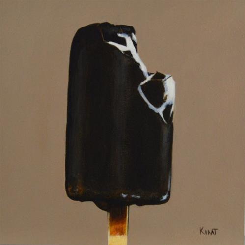 """Chocolate Covered Ice Cream 1"" original fine art by Kim Testone"
