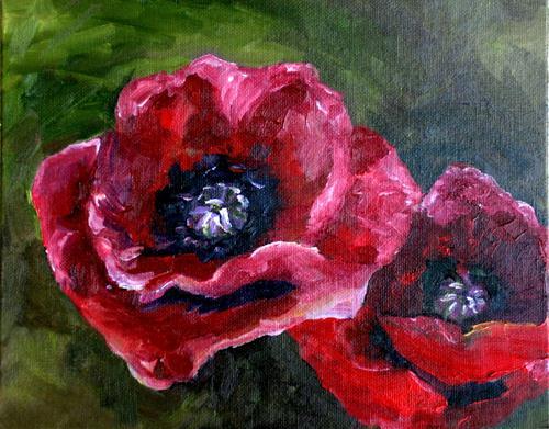 """Poppies"" original fine art by Kristen Dukat"