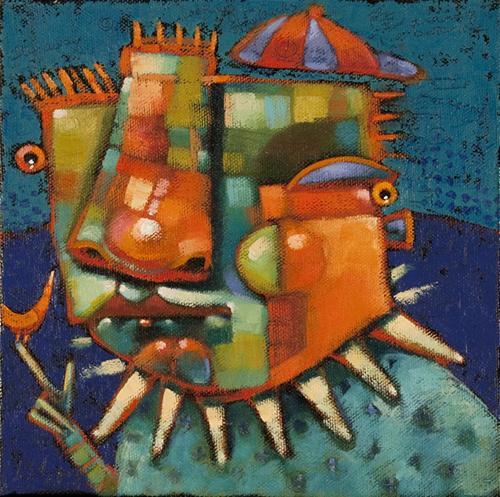"""Punchinello"" original fine art by Brenda York"