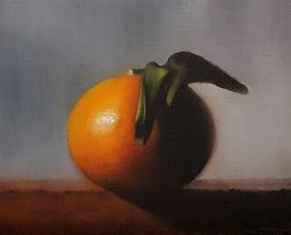"""""""Tangerine"""" original fine art by Jonathan Aller"""