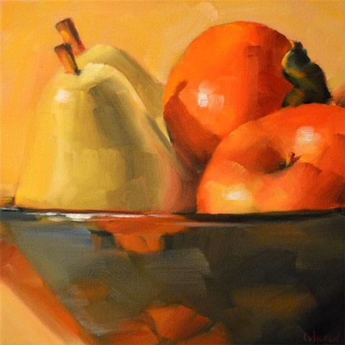 """Fruit Bowl Close Up"" original fine art by Cheryl Wilson"