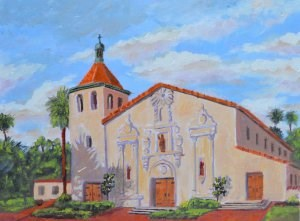 """Mission Santa Clara"" original fine art by Robert Frankis"