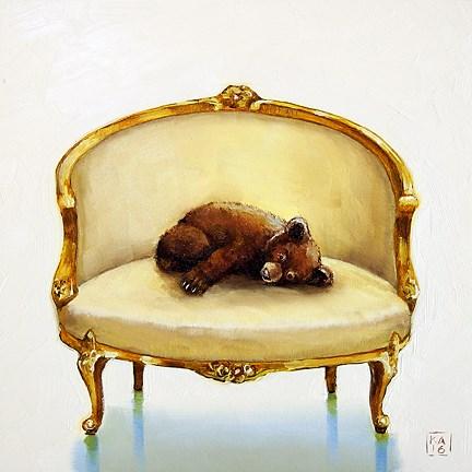 """baby bear"" original fine art by Kimberly Applegate"