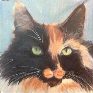 """Lindsey' Cats - Zoe"" original fine art by Lyn Gill"