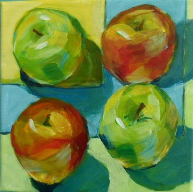 """Apples"" original fine art by Sabine Hüning"