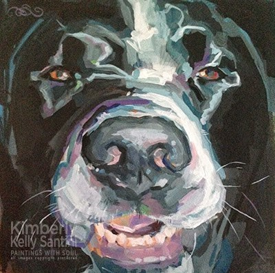 """Cheese!!"" original fine art by Kimberly Santini"