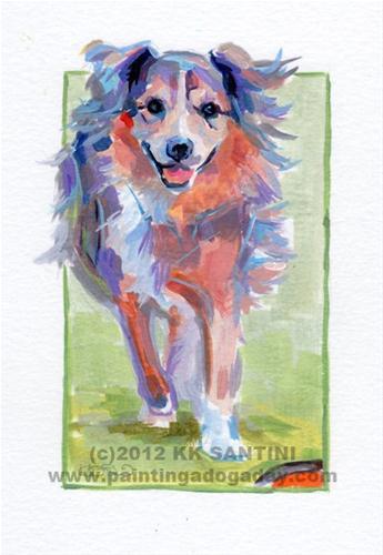"""Huxley, A Painted Sketch"" original fine art by Kimberly Santini"
