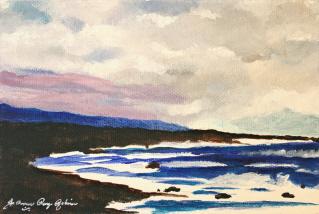 """Stormy Ocean Sky"" original fine art by JoAnne Perez Robinson"