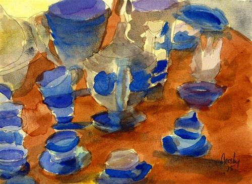"""Antique Shop"" original fine art by Donna Crosby"