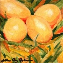 """Fresh Eggs"" original fine art by JoAnne Perez Robinson"