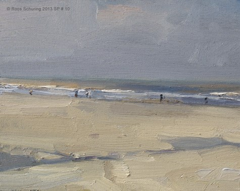 """""""Seascape spring 10 Inner composition (available)"""" original fine art by Roos Schuring"""